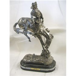 "22% Real Silver ""Outlaw"" Sculpture"