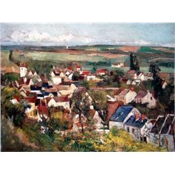 "Cezzanne ""View Of Auvers From Above"""