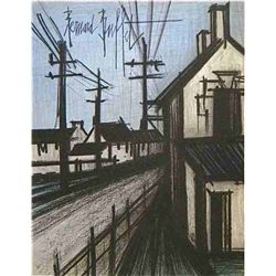 "Buffet Original Lithograph ""The Village Road"""