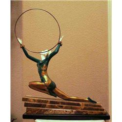 """Chiparus """"Ecstacy"""" - Bronze And Ivory Sculpture"""