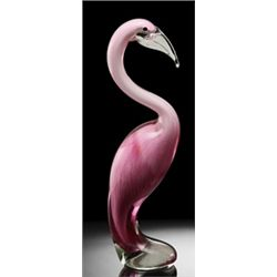 Art Glass Pink Flamingo - Hand Crafted