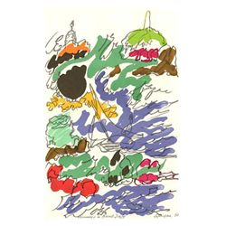 "Lapicque Lithograph ""Homage To Dufy"""
