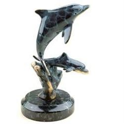 Dolphin Pair Bronze Sculpture
