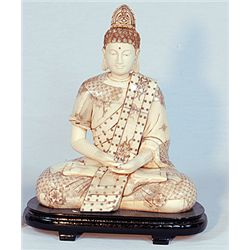 """Hand Carved Budha - Very Ornate"