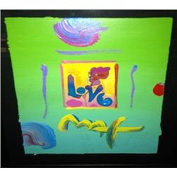 """Love"" Peter Max Original Mixed Media"