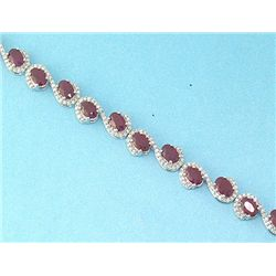 18K GOLD RUBY AND DIAMOND BRACELET