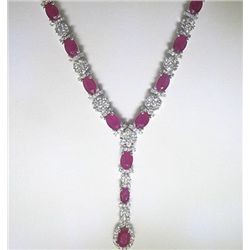 14K GOLD RUBY AND DIAMOND NECKLACE