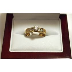Dead Pawn Non-Native Diamond 14k Gold Women's Ring - CBI