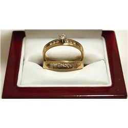 Dead Pawn Non-Native Diamond 10k Gold Women's Engagement/Wedding Ring Set - WIC