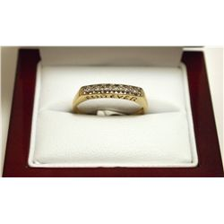 "Dead Pawn Non-Native Diamond 10k Gold ""FOREVER"" Women's Ring - AFJC"