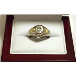 Dead Pawn Non-Native Diamond 14k Gold over Sterling Silver Women's Ring