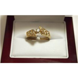 Dead Pawn Non-Native Diamond 14k Gold Women's Ring - SR