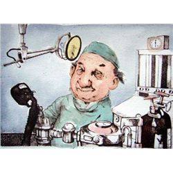 "Charles Bragg ""Anesthesiologist"" Hand Signed Lithograph"