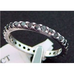 1.20 Ctw. Black Diamond Eternity Band Ring In Sterling Silver