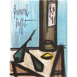 "Buffet Original Lithograph ""Still Life With Bottle"""