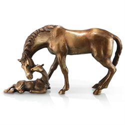 Mare & Foal Bronze Sculpture
