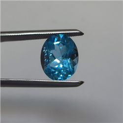 Loose Natural Swiss Blue Oval Topaz 11mm x 9mm
