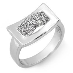 Natural 0.25 ctw Diamond Ring 10K White Gold