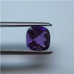Loose Natural Amethyst 8mm x 8mm VERY NICE color tone