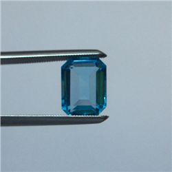 Loose Natural Swiss Blue Octagon Topaz 9mm x 7mm