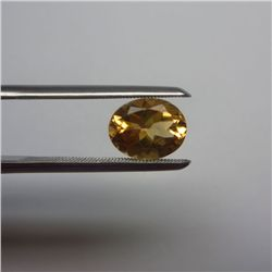 Loose Natural Citrine Oval 11mm x 9mm LIGHT ORANGE color tone