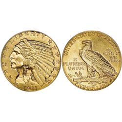 $5 Indian Gold - Half Eagle - 1908 to 1929 - Random date