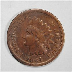 1864L  Indian penny  F/VF  strong L est  $130-$140