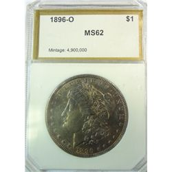 1896-O MORGAN DOLLAR PCI MS-62