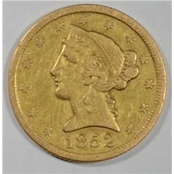 1852  $5 Gold  XF