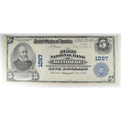 1902  National  $5 First NB Belvidere IL  XF/AU   Est  $400-$450