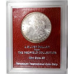 1897  Morgan $  MS65 REDFIELD COLLECTION  est  $175-$200