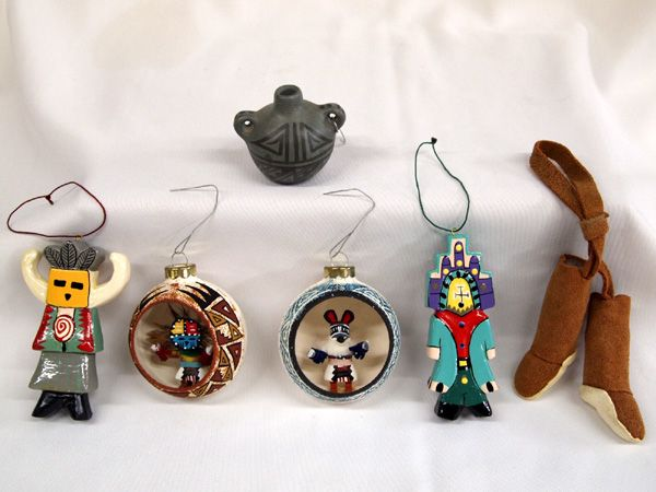 Collection of Native American Christmas Ornaments