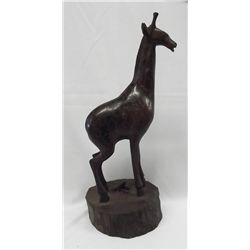 Wood Carved African Giraffe