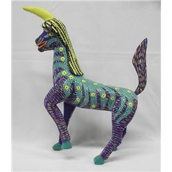 Oaxacan Mexican Carved and Painted Unicorn
