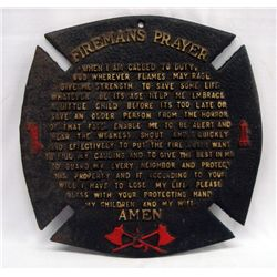 Cast Iron Fireman's Prayer Wall Hanging