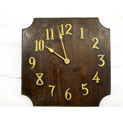 Arts & Crafts Wood Wall Clock