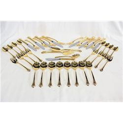 Gold Tone 8 Serving Utensil Set by Reed & Barton