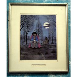 Native American Theme Framed Print- J. Tiger