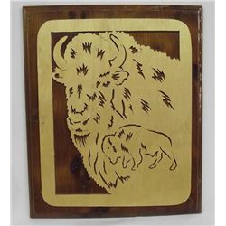Laser Cut Wooden Wall Hanging of Majestic Bison