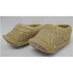 Antique Primitive Chinese Woven Straw Grass Shoes