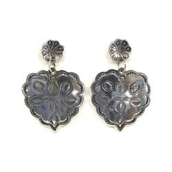Navajo Sterling Silver Concho Earrings - Cleveland