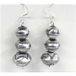 Navajo Sterling Silver Earrings by Calvin Largo