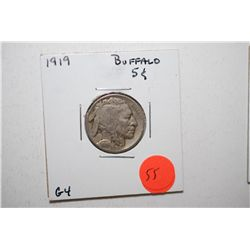1919 Buffalo Nickel; G4; EST. $3-6