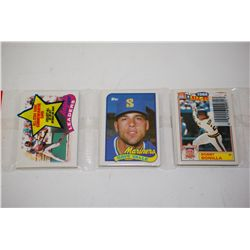 1989 MLB Baseball Trading Cards; Various Dates, Players & Teams; Lot of 42 Unopened; EST. $5-10