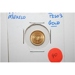 1945 Mexico Dos Pesos Gold Foreign Coin; EST. $80-100