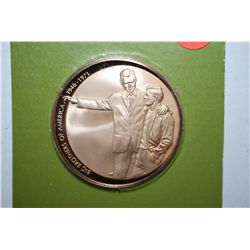 1971 Big Brothers Of America 25th Anniversary Commemorative Medal; It Takes A Man To Help A Boy; Sol