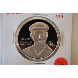 Silver Round; PGA Tour Partners Club Collection; Payne Stewart H.O.F. 2001; .999 Fine Silver 1 Oz.;