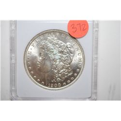 1900-O Silver Morgan $1; MCPCG Graded MS62; EST. $60-80