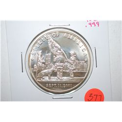 "Sept. 11, 2001 Silver Round ""Spirit Of America""; Land Of The Free September 11, 2001; .999 Fine Silv"