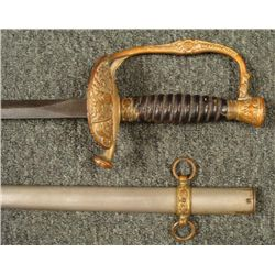 1860 CIVIL WAR STAFF & FIELD OFFICER'S SWORD CLAMSHELL